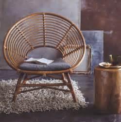 Vintage Rattan Chair And Ottoman