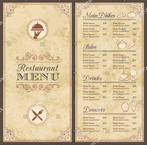 blank restaurant menu template 29 blank menu templates editable psd ai format free premium templates