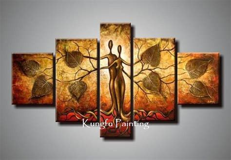 painting decor 2018 100 hand painted discount abstract 5 panel canvas