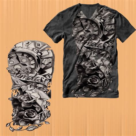 tattoo shirt designs playful t shirt design for a company by