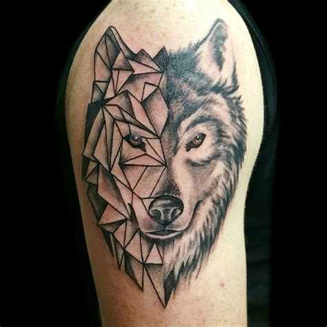 kiss of ink tattoo wolf morph coming from of ink studios by
