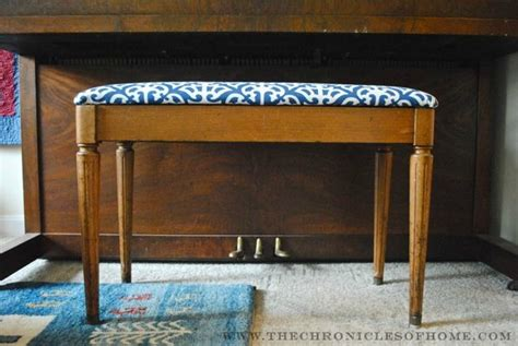how to upholster a piano bench the chronicles of home tutorial how to reupholster a