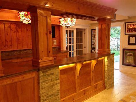 basement pine knotty pine bar