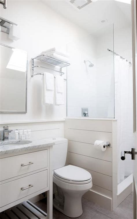 Shiplap Small Bathroom Shiplap Shower Surround Design Ideas