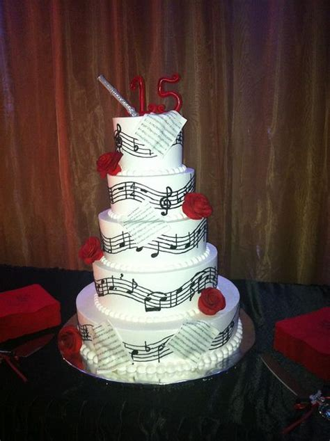 music theme quinceanera music quince cake wedding blue roses and cakes