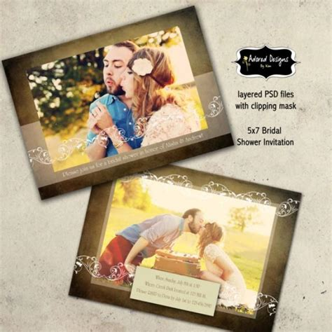 Photoshop Card Templates Etsy by Photoshop Card Templates Instant For Bridal