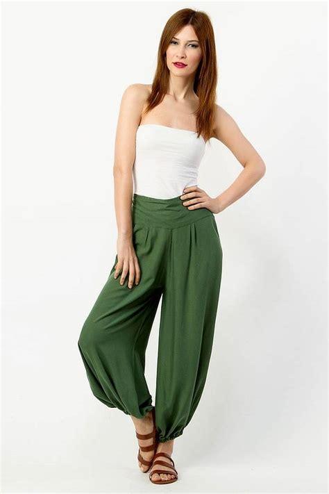 Harem High Waist high waist harem trousers by lalestyle
