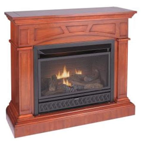 Ventless Gas Fireplace Home Depot by Emberglow 43 In Convertible Vent Free Dual Fuel Gas