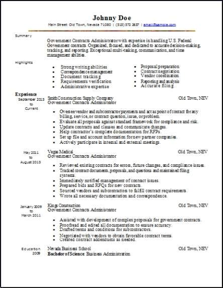 Government Resume by Government Resume Occupational Exles Sles Free
