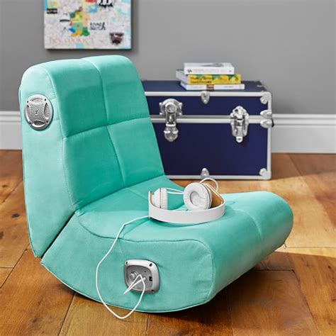 chairs for teenage bedrooms desk chairs for teen girls suede mini rocker speaker chair pbteen