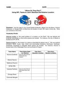 absolute amp relative location assignment nfl football