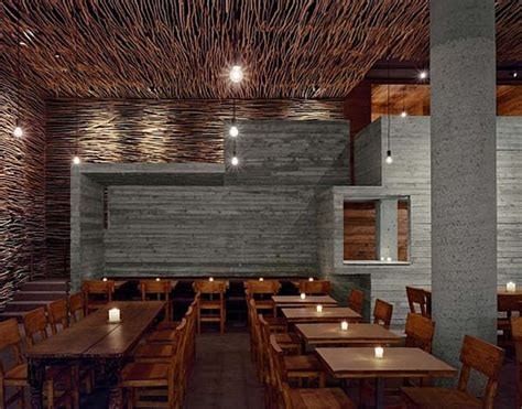 17 best images about modern rustic restaurant decor on wonderful wood concrete and twigs restaurant design by