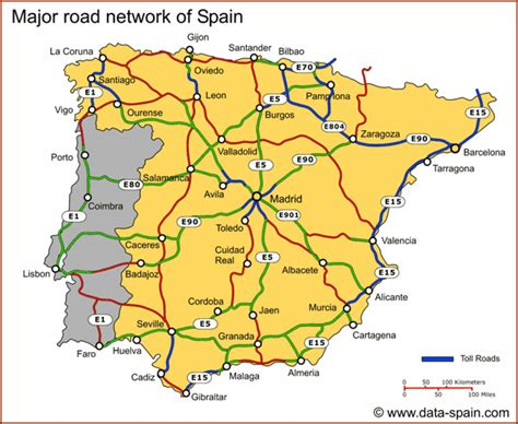 printable road map of portugal outes spain hotelroomsearch net