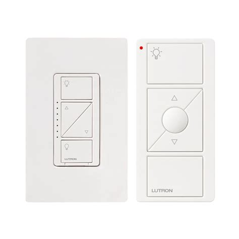 lutron in l dimmer with remote lutron p pkg1w wh caseta wireless in wall dimmer pico