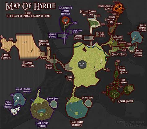 legend of zelda oot map hyrule already large enough for zelda u nx theory