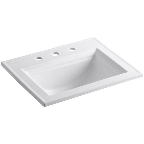 Drop In Bathroom Sink Kohler Memoirs Stately Drop In Vitreous China Bathroom Sink In White With Overflow Drain K 2337
