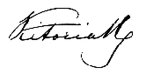 queen victoria signature soft minds signature of some very famous people