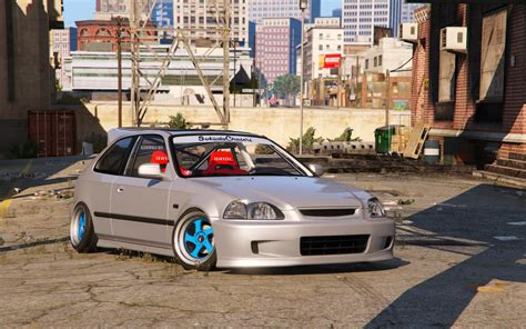 Honda Civic Tuning honda civic ek9 stance tuning template gta5 mods