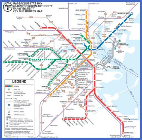 boston metro map boston subway map toursmaps