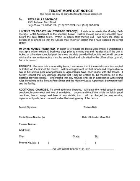 30 day move out notice template 30 day notice of moving out template 28 images 10 best