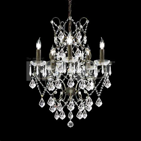 James Moder 40675bz22 Charleston Crystal Bronze Hanging Moder Chandeliers
