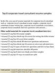 Corporate Travel Consultant Sle Resume by Top 8 Corporate Travel Consultant Resume Sles