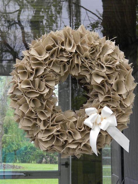 burlap wreath well rounded burlap wreath tutorial