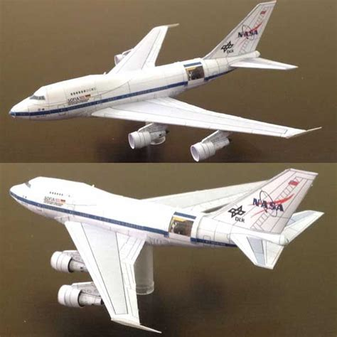 boeing b 747sp dlr sofia nasa airplane paper model free