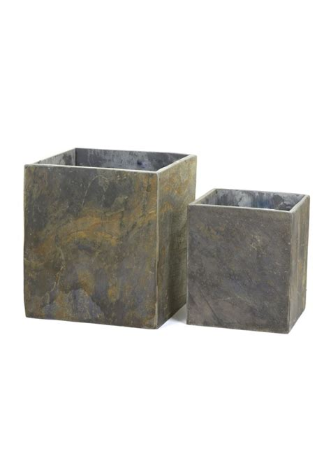 Square Planters by Slate Square Planter