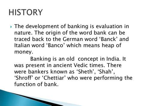 origin of the word functions of banks