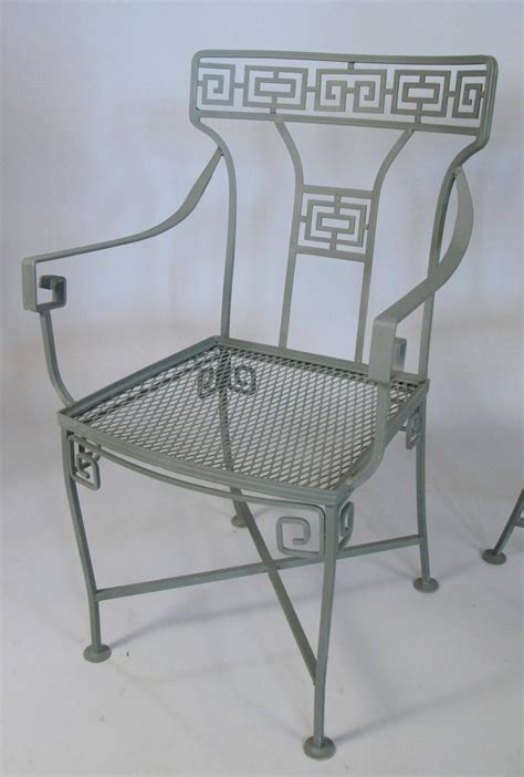 Vintage Wrought Iron Greek Key Dining Table And Chairs At Wrought Iron Dining Table And Chairs