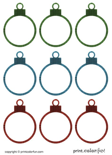 printable christian ornaments christmas ornament gift tags coloring page print color