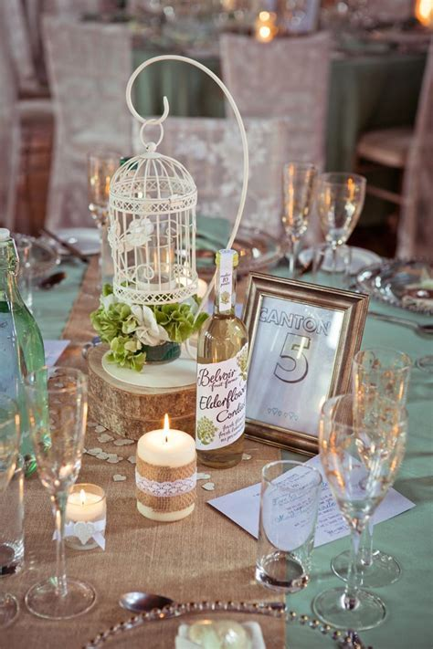 Rustic Meets Elegant Mint & Gold Barn Wedding   Receptions
