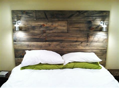 Light Wood Headboard Headboard Ideas Diy Diy Wood Headboard With Light Distressed Wood Headboard Design Trends