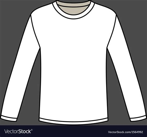 Blank Long Sleeved T Shirt Template Royalty Free Vector Sleeve T Shirt Template