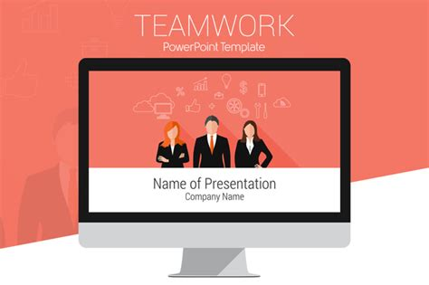 Teamwork Powerpoint Template Presentation Templates On Teamwork Powerpoint Template