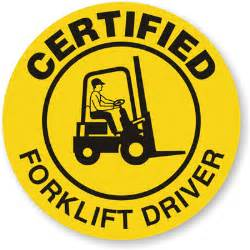 forklift driver hard hat stickers
