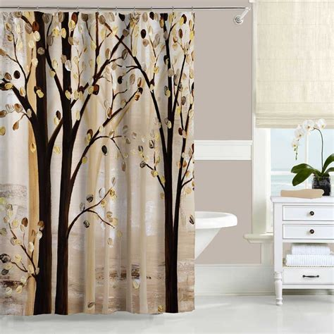 shower curtain brown shower curtain beige abstract