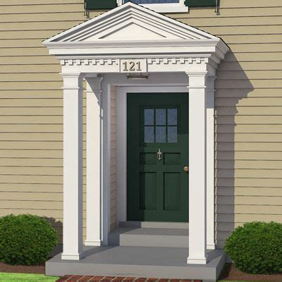 colonial front door on colonial exterior