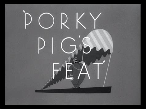 looney tunes title card template porky pig s feat