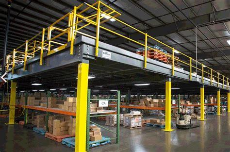 industrial facility mezzanine storage  ellis systems