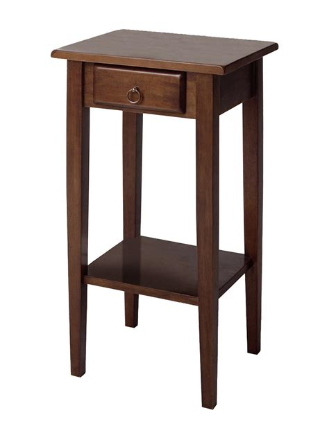 accent table with shelves winsome regalia accent table with drawer shelf by oj