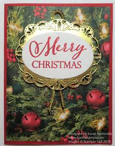 bright merry christmas card stamping  karen