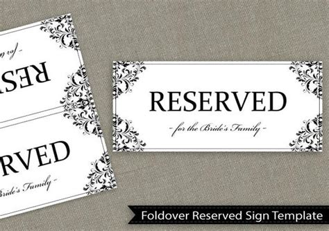 Foldable Reserved Sign Template Pictures To Pin On Pinterest Pinsdaddy Foldable Reserved Sign Template