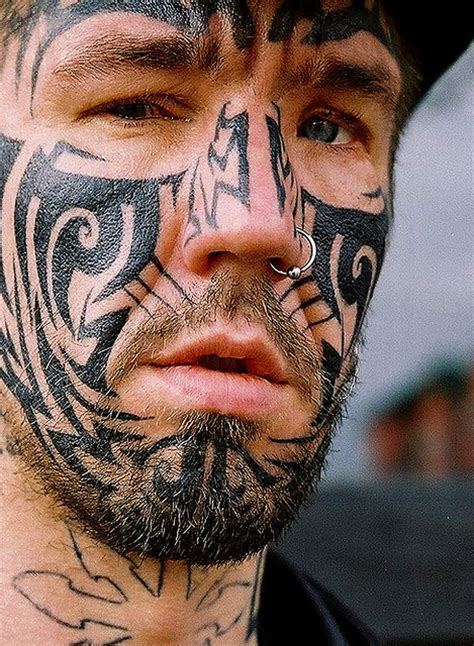 maori face ink tattoo love