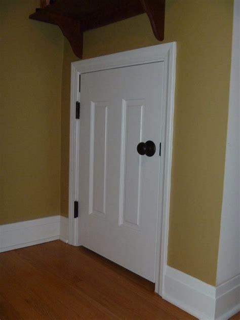 custom closet door to crawl space utilizing a cut