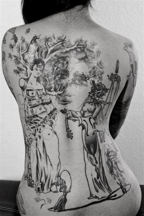 geisha girl tattoo on back back tattoos and designs page 412