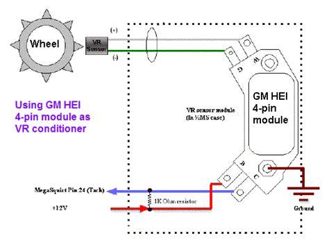hei distributor module wiring diagram on 4 pin hei free