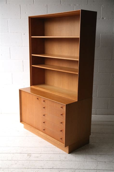 Oak Bookcase With Drawers by 1960s Oak Bookcase With Drawers And Chrome