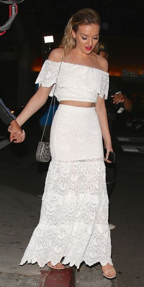 perrie edwards lace shirt skirt top off the shoulder lace skirt maxi skirt all